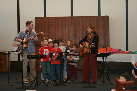 Children at Peri Smilow concert Congregation Beth El South Orange, NJ 2012