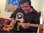 Duke Levine lays guitar tracks on BLESSINGS